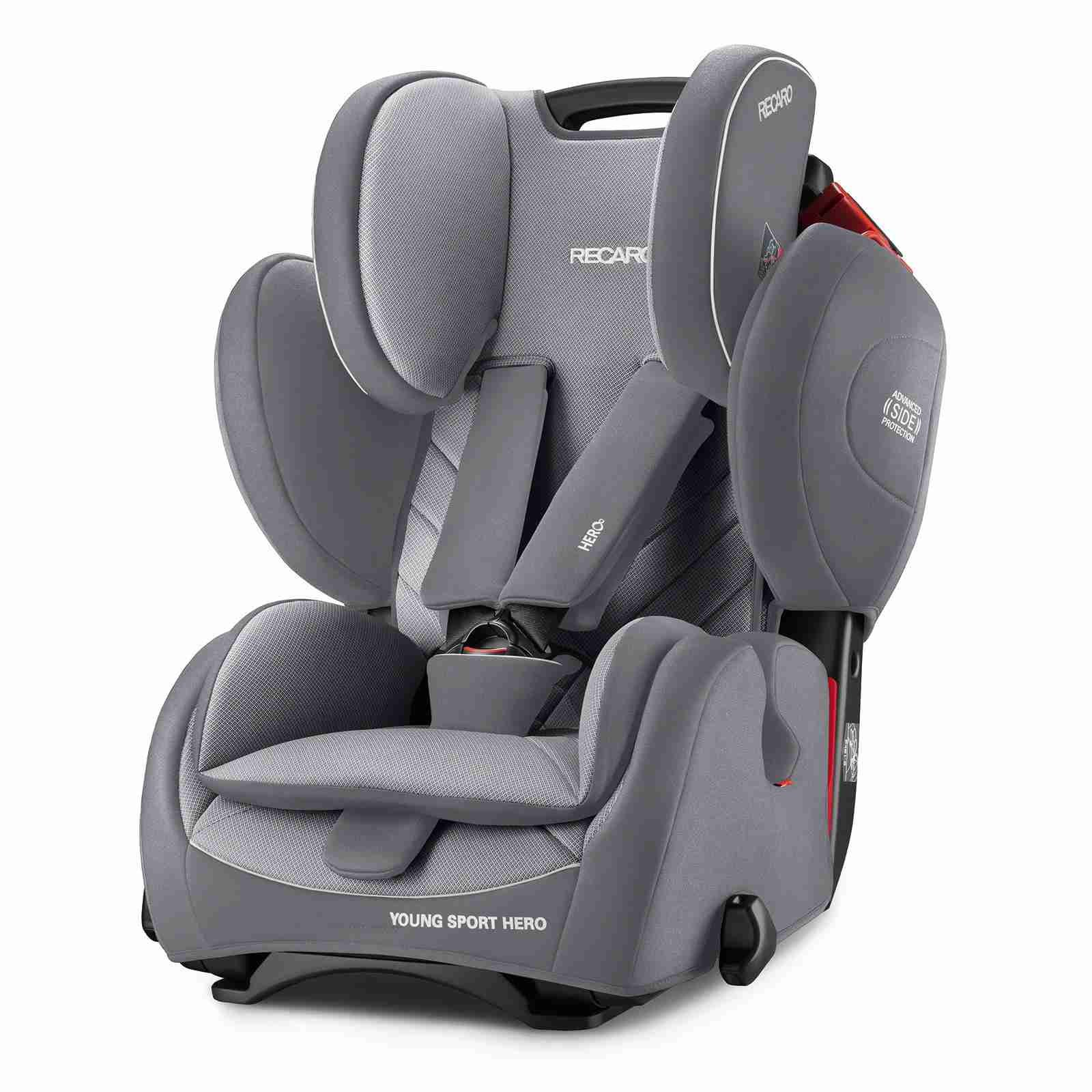 recaro young sport hero 1 2 3 autostoel aluminium grey beste keuze autostoel. Black Bedroom Furniture Sets. Home Design Ideas