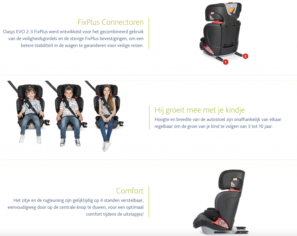 Chicco website autostoel