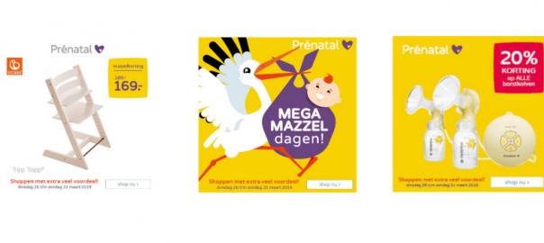 Mega mazzeldagen Prenatal zijn van start!