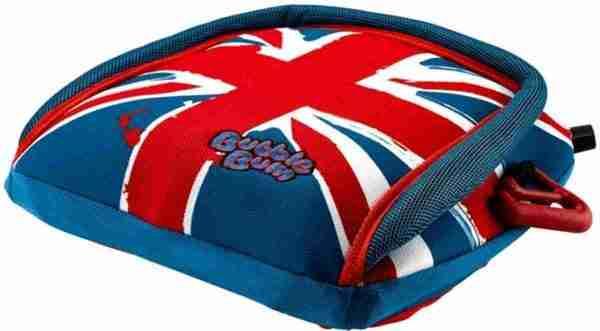 Bubblebum Zitverhoger Autozitje Opblaasbaar Autostoeltje - Union Jack - Blauw-Rood